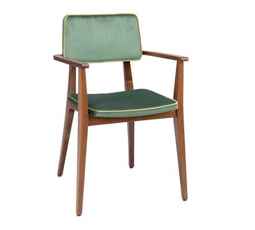 Flash stoel in groen stoffering