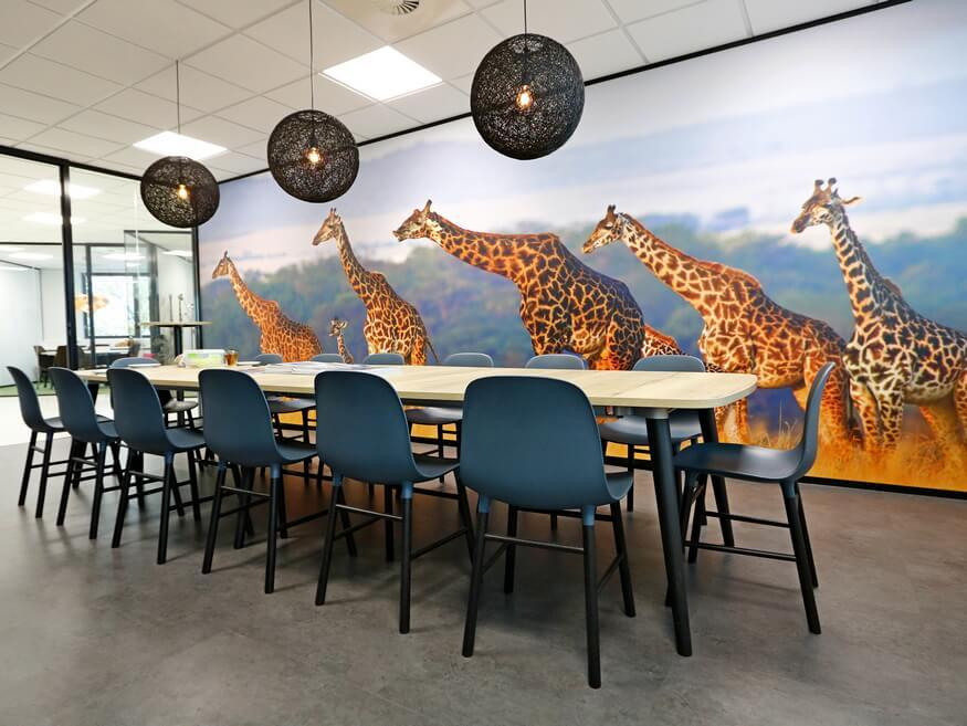 Nieuwe kantoorinrichting Jambo Safari
