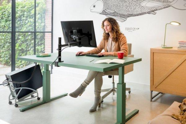Bureau, monitorarm, CPU-houder, werkplek