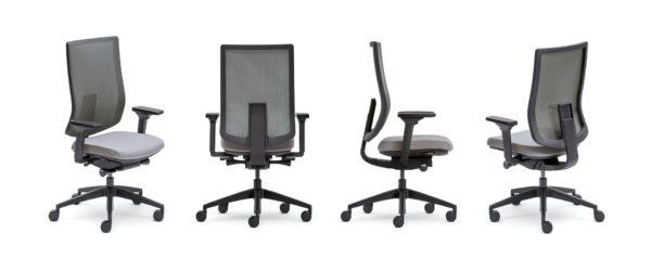 Ergonomische bureaustoel ERGO PRO in het zwart